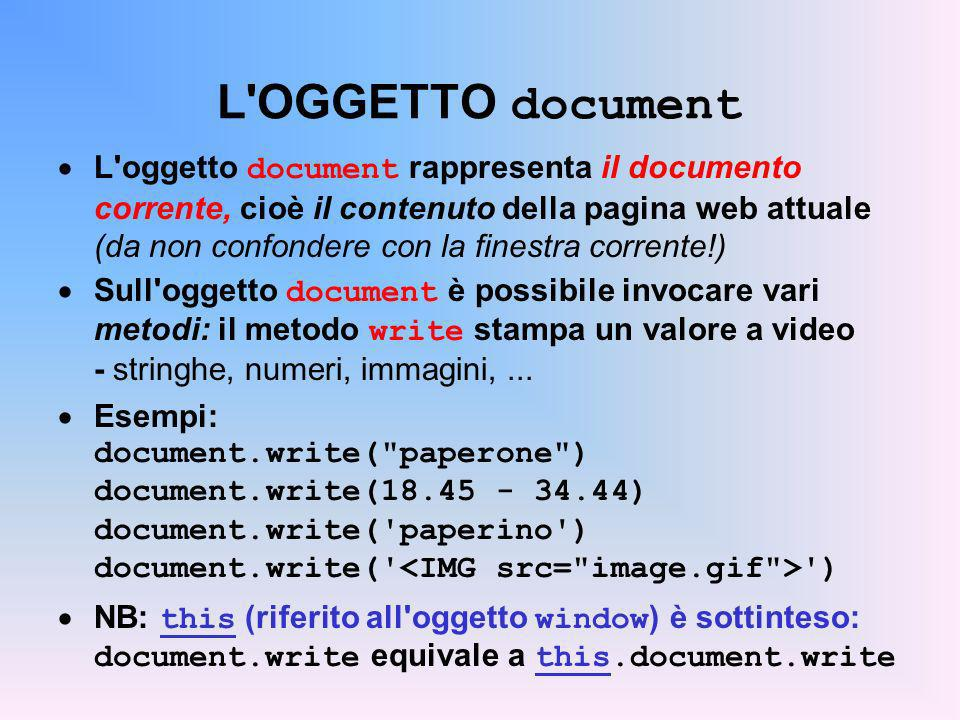 L OGGETTO document