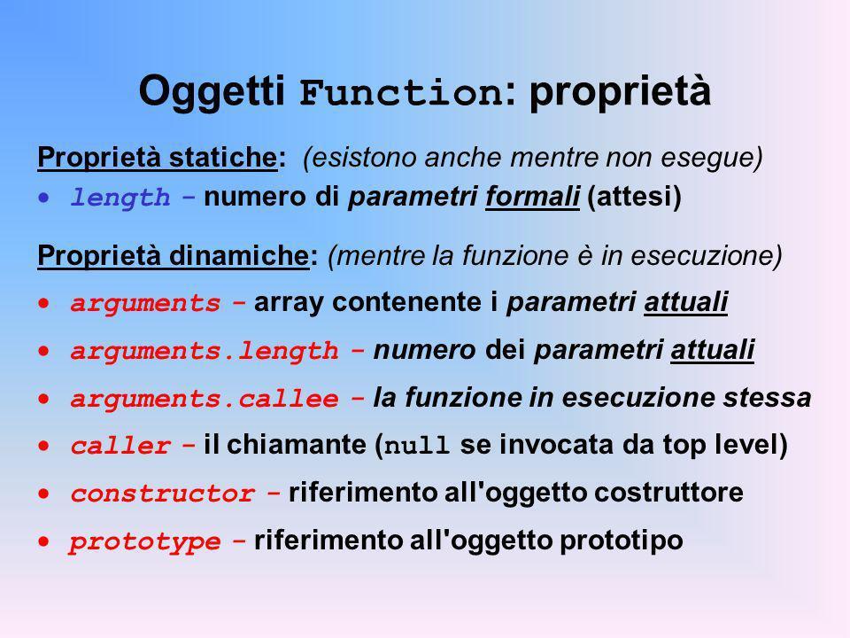 Oggetti Function: proprietà