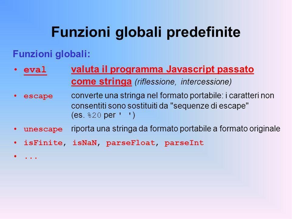 Funzioni globali predefinite