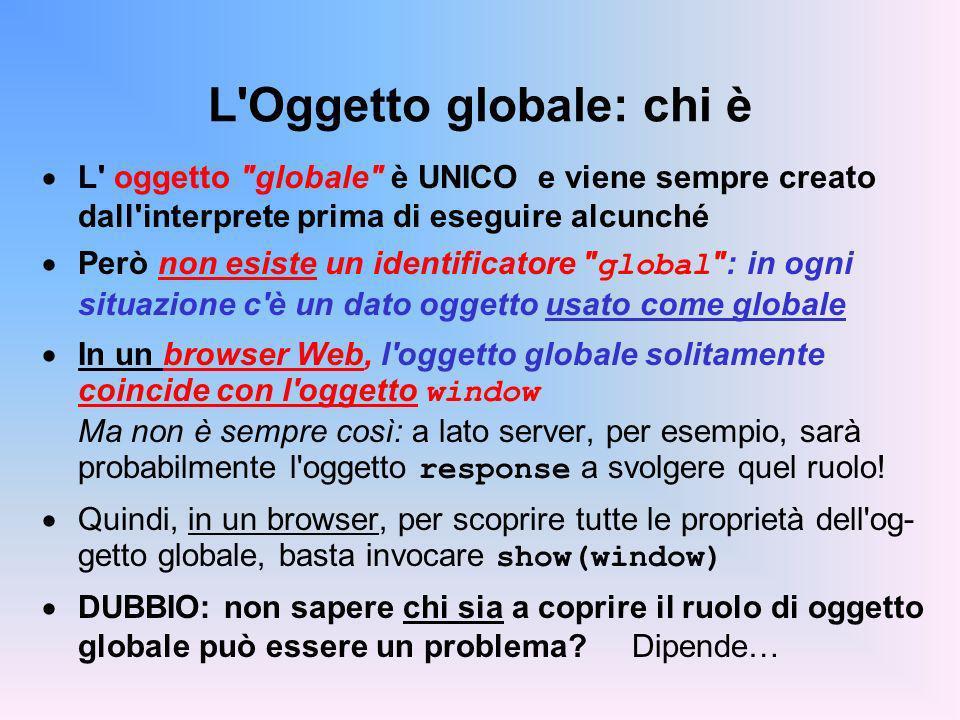 L Oggetto globale: chi è