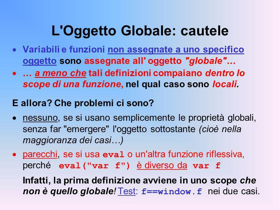 L Oggetto Globale: cautele
