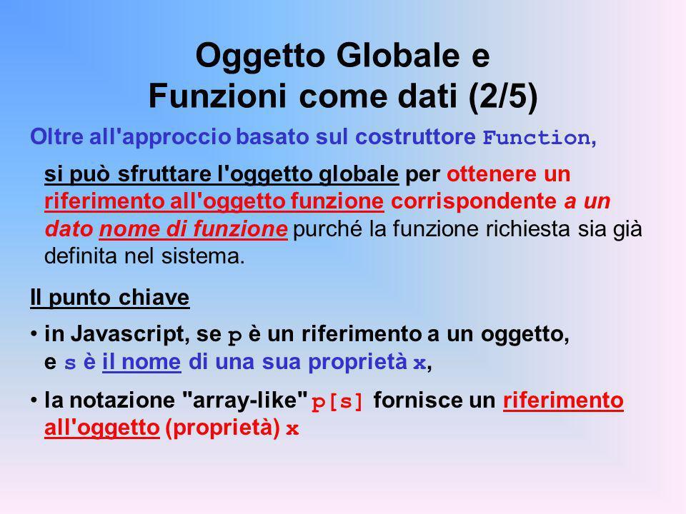 Oggetto Globale e Funzioni come dati (2/5)
