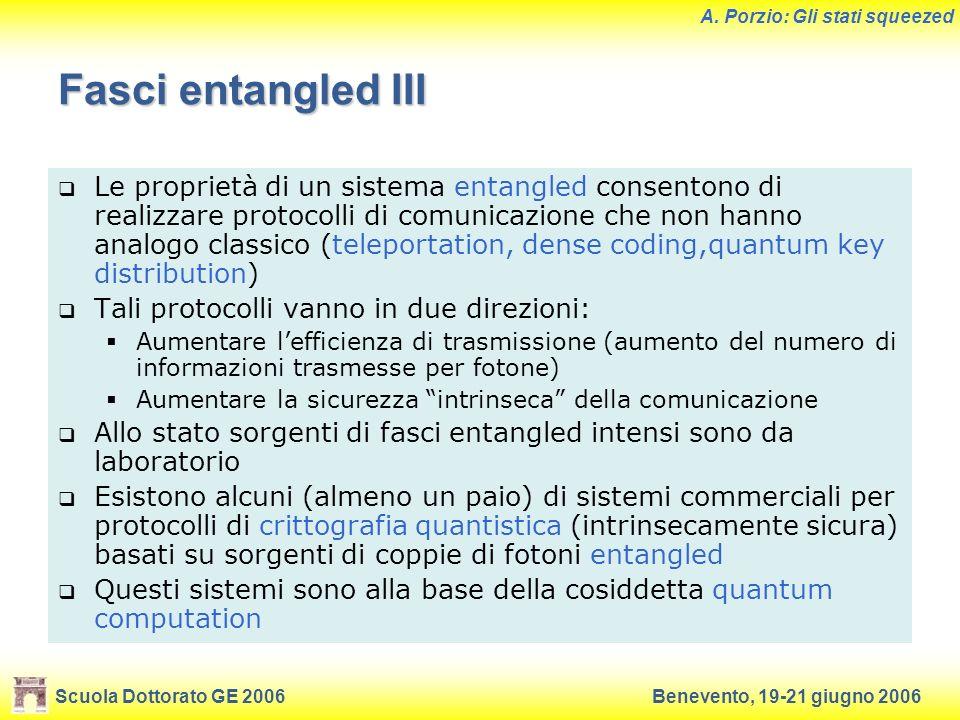 Fasci entangled III