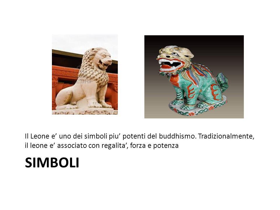 Il Leone e' uno dei simboli piu' potenti del buddhismo