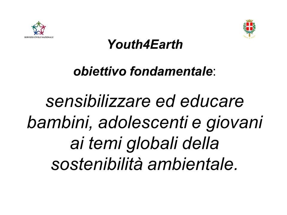 Youth4Earth obiettivo fondamentale: sensibilizzare ed educare bambini, adolescenti e giovani ai temi globali della sostenibilità ambientale.