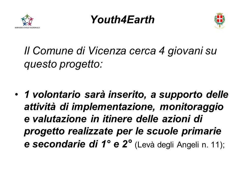 Il Comune di Vicenza cerca 4 giovani su questo progetto: