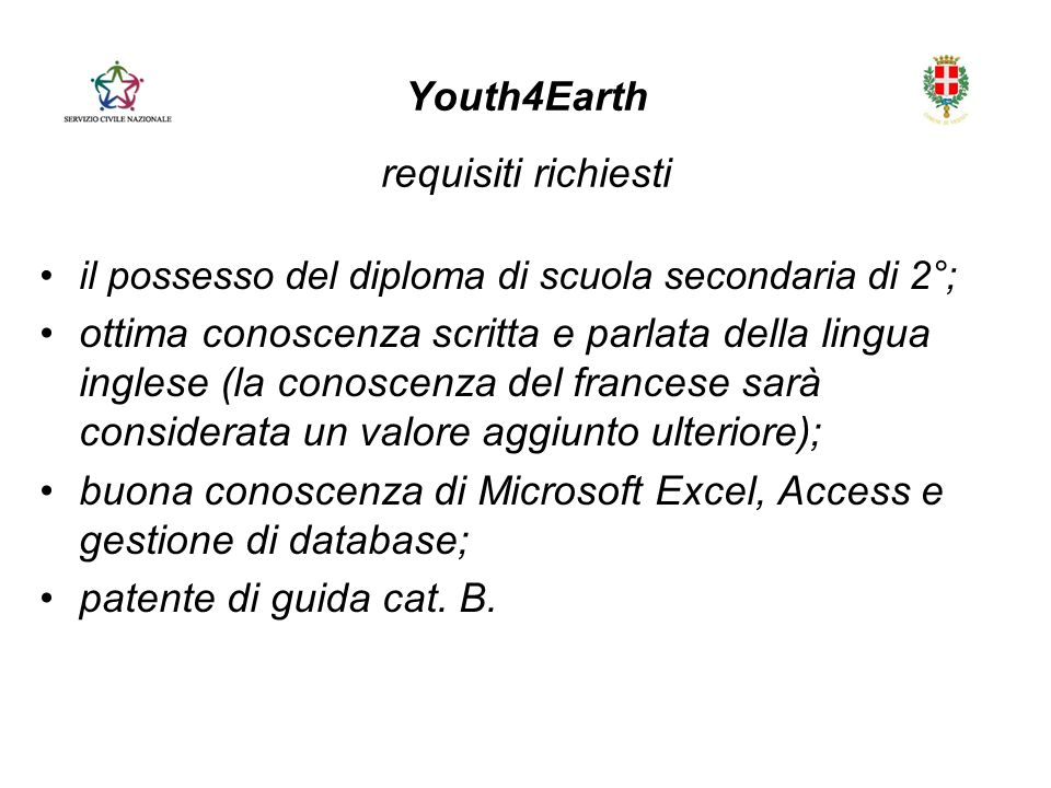 Youth4Earth requisiti richiesti