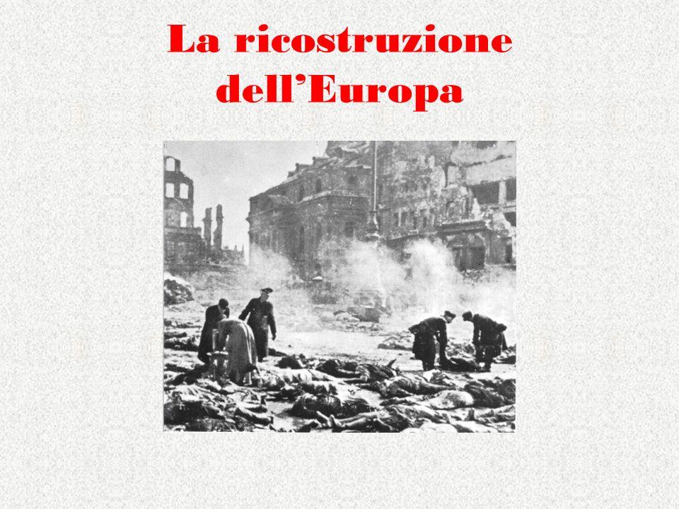 La ricostruzione dell'Europa