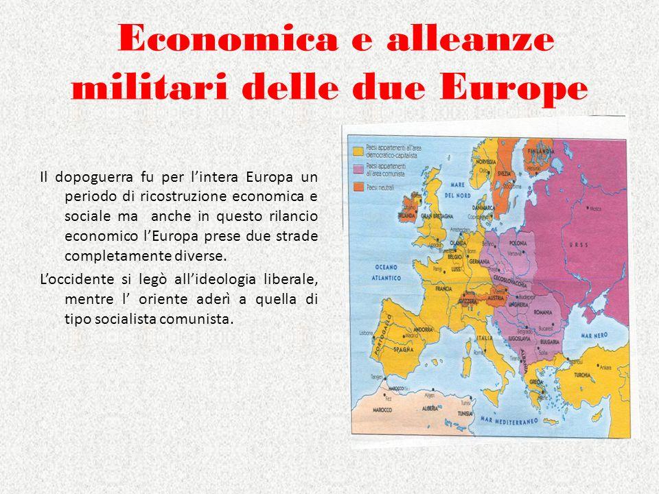 Economica e alleanze militari delle due Europe