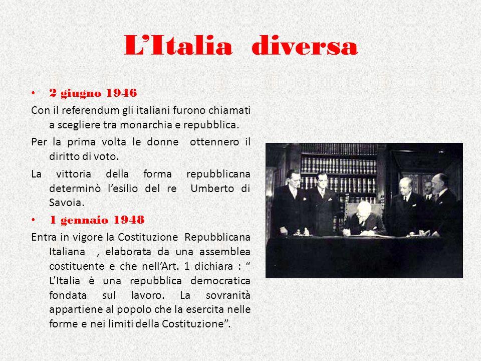 L'Italia diversa 2 giugno 1946