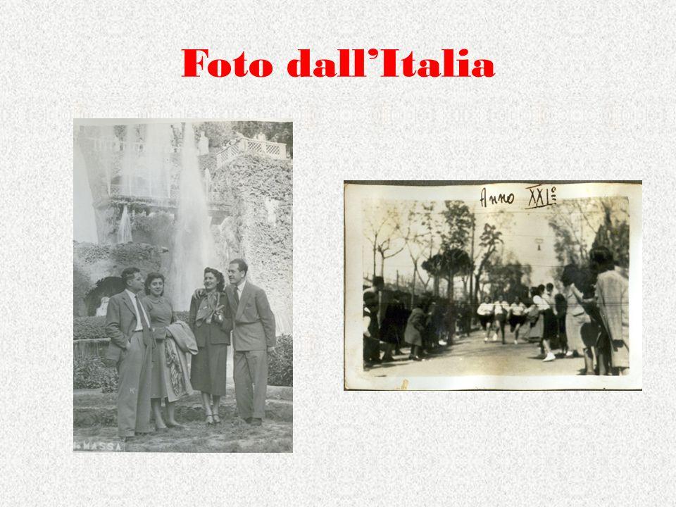Foto dall'Italia