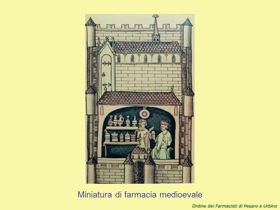 Miniatura di farmacia medioevale