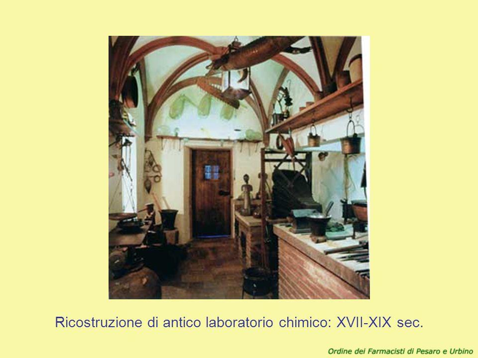Ricostruzione di antico laboratorio chimico: XVII-XIX sec.