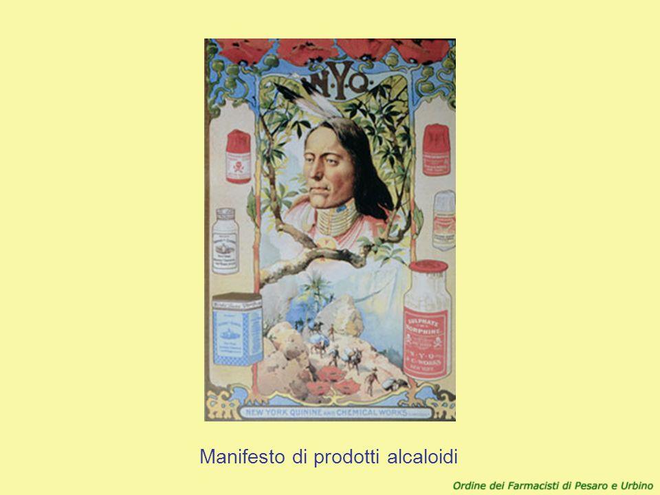 Manifesto di prodotti alcaloidi