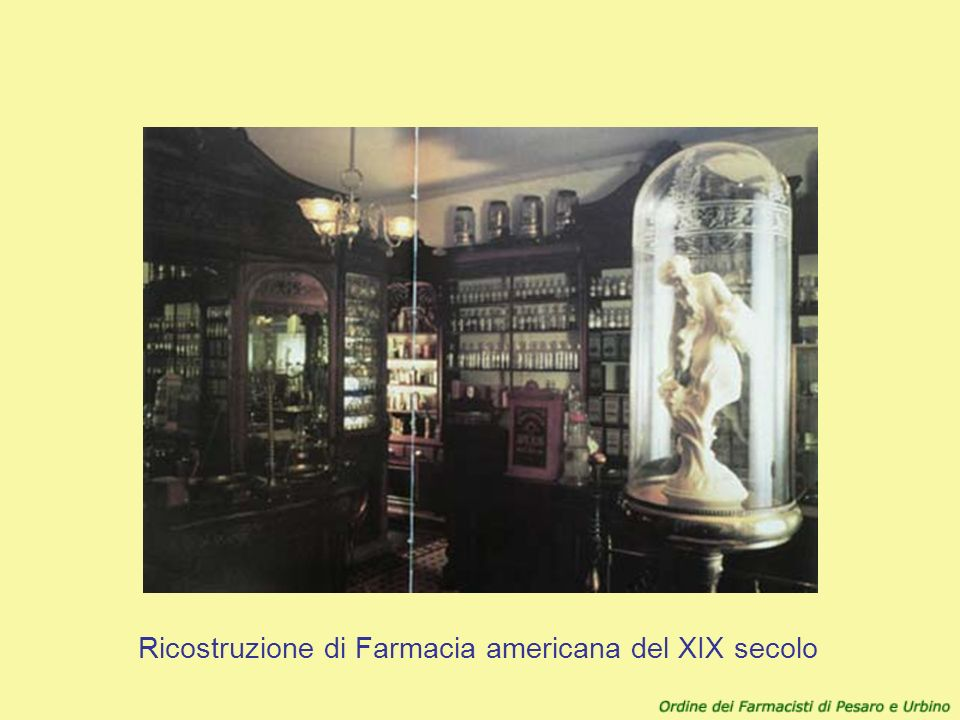 Ricostruzione di Farmacia americana del XIX secolo