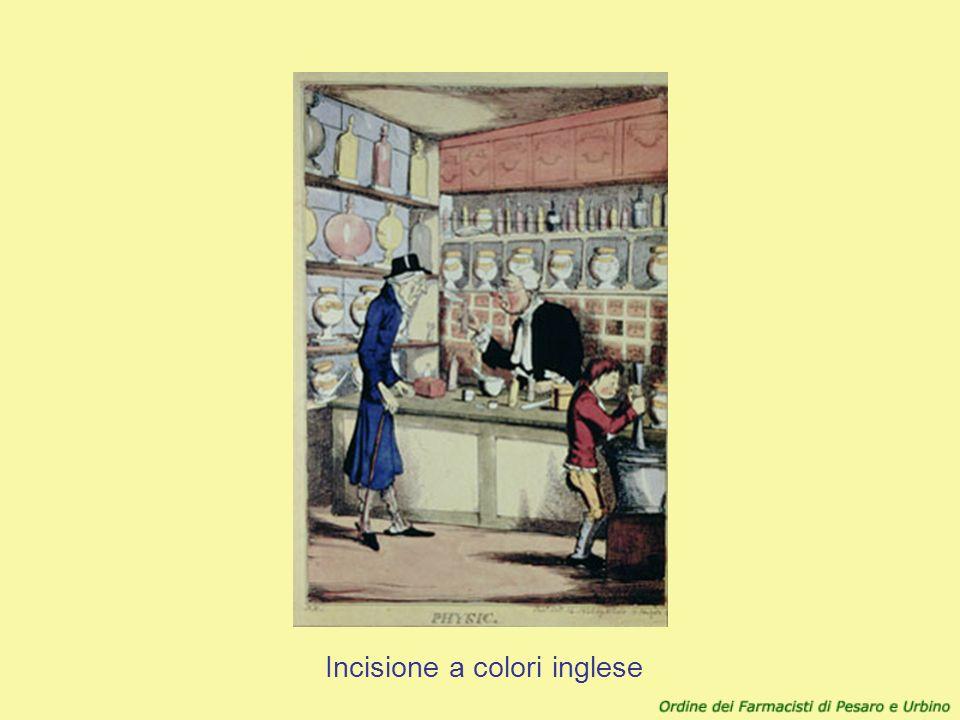 Incisione a colori inglese