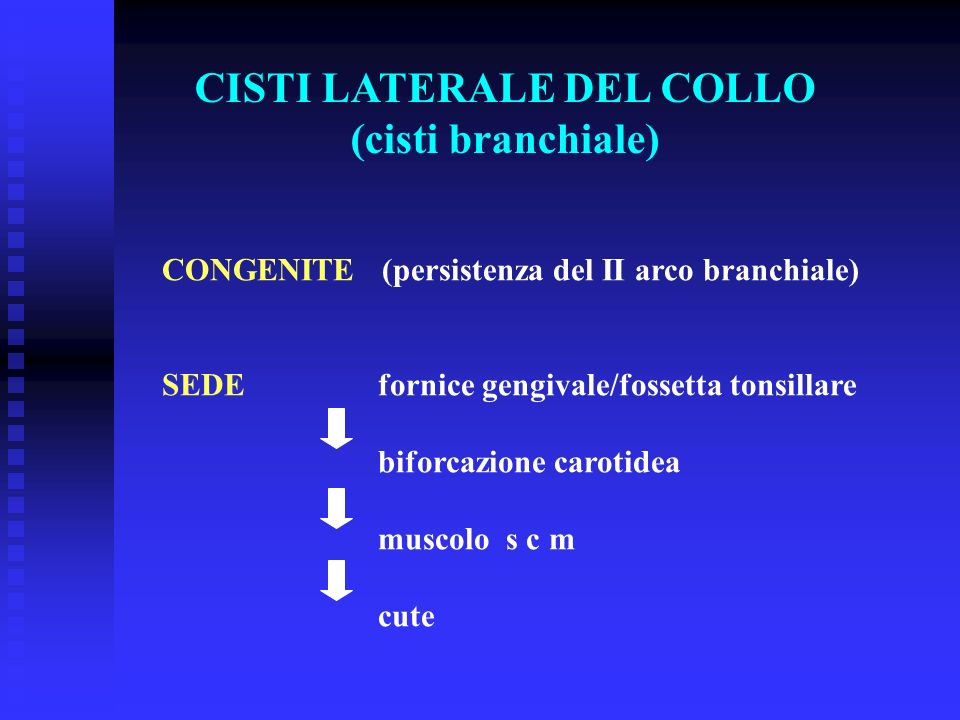 CISTI LATERALE DEL COLLO