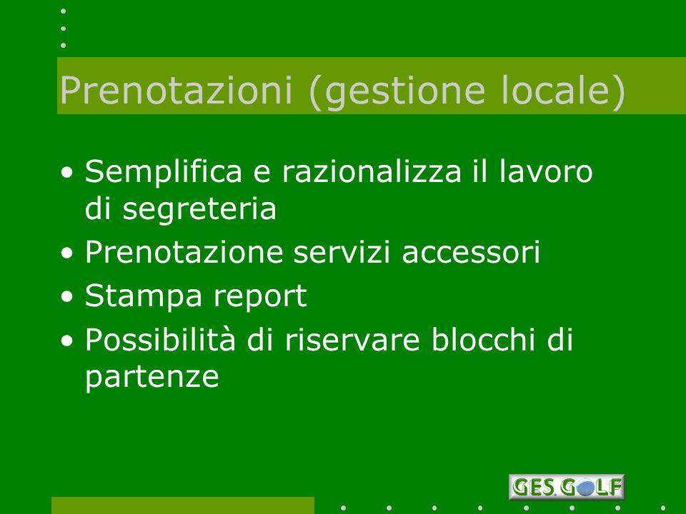Prenotazioni (gestione locale)