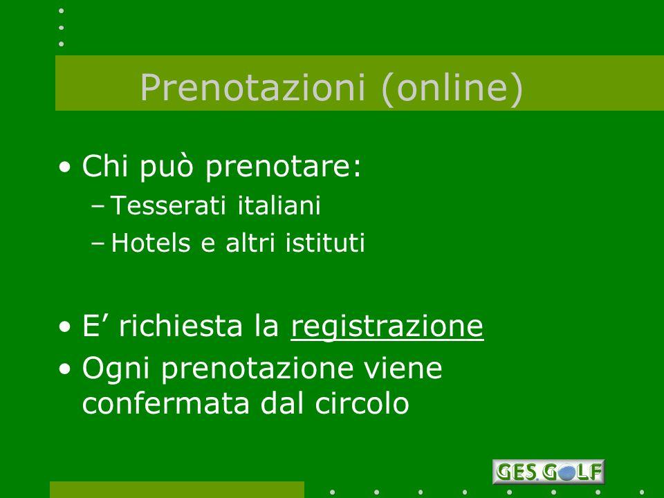 Prenotazioni (online)
