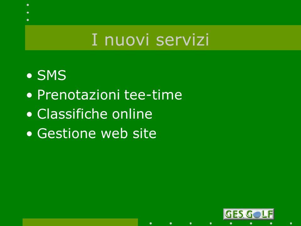 I nuovi servizi SMS Prenotazioni tee-time Classifiche online
