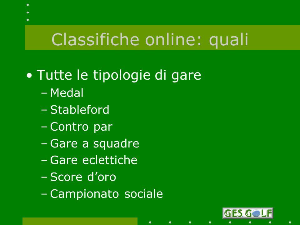 Classifiche online: quali