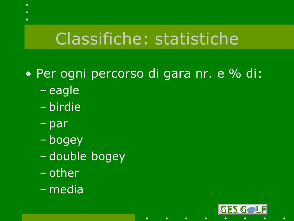 Classifiche: statistiche