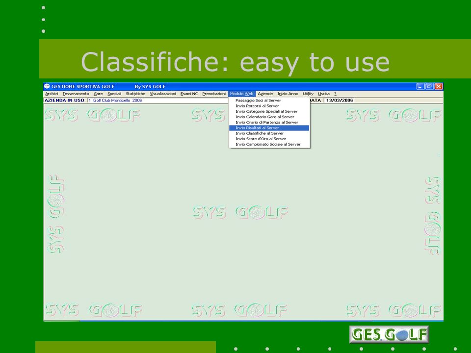 Classifiche: easy to use