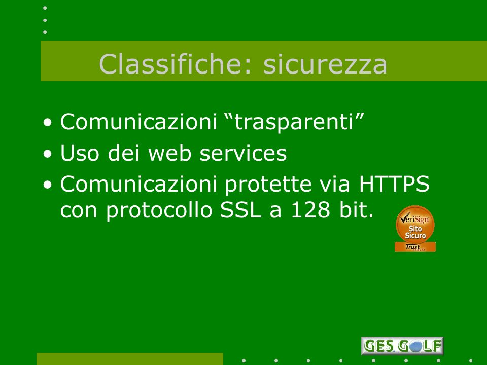 Classifiche: sicurezza