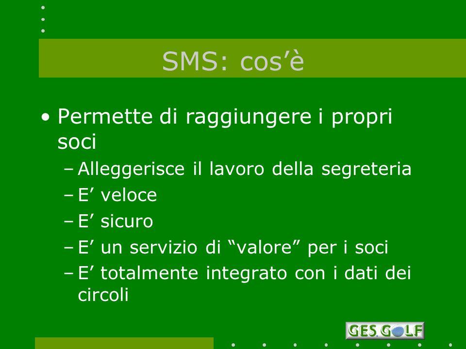 SMS: cos'è Permette di raggiungere i propri soci