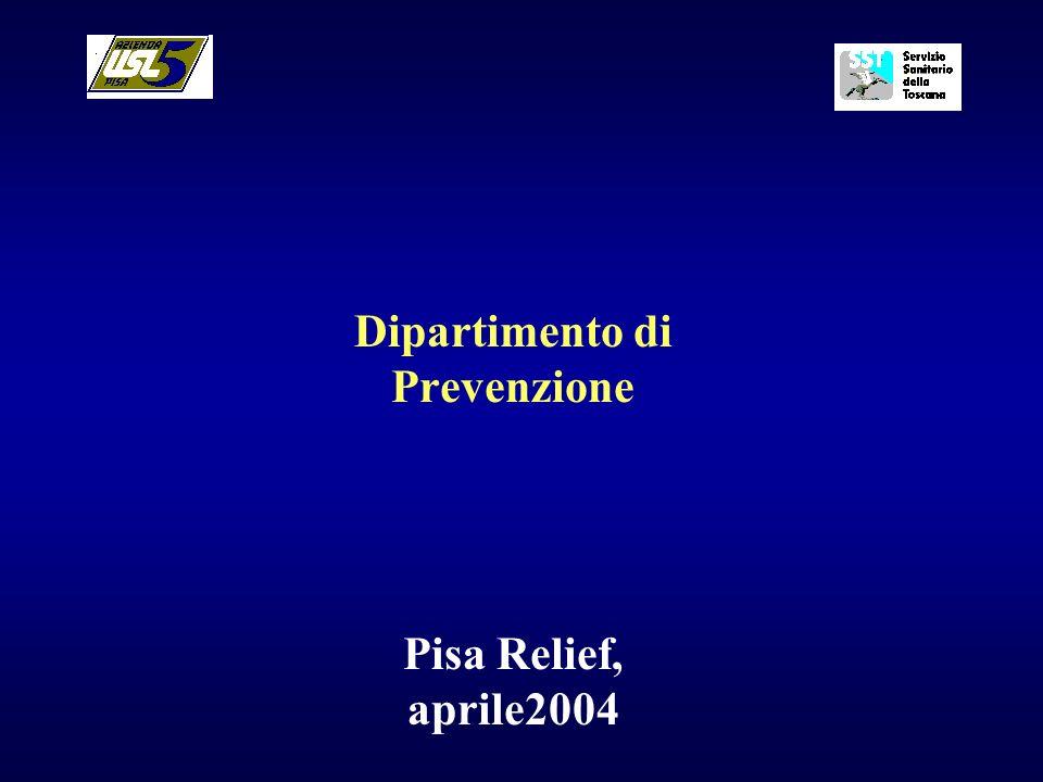 Dipartimento di Prevenzione Pisa Relief, aprile2004
