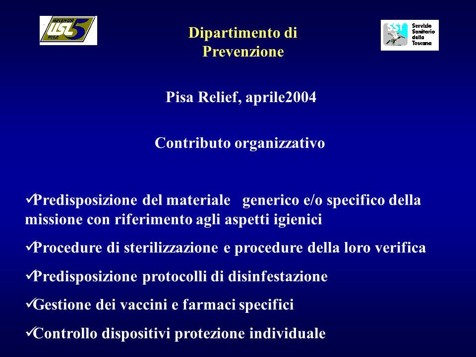 Dipartimento di Prevenzione Contributo organizzativo