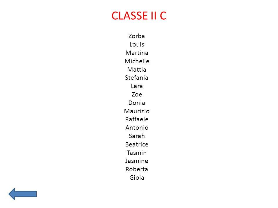 CLASSE II C Zorba Louis Martina Michelle Mattia Stefania Lara Zoe