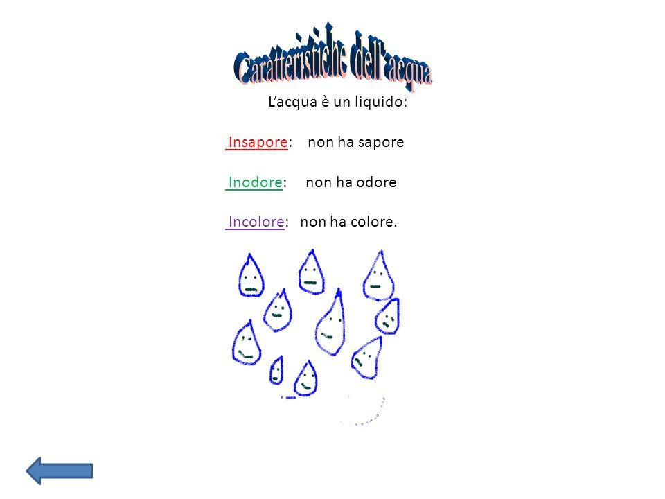 Caratteristiche dell'acqua