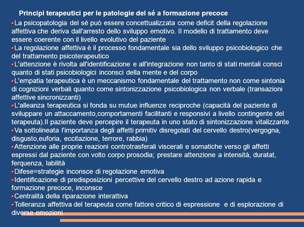 Principi terapeutici per le patologie del sé a formazione precoce