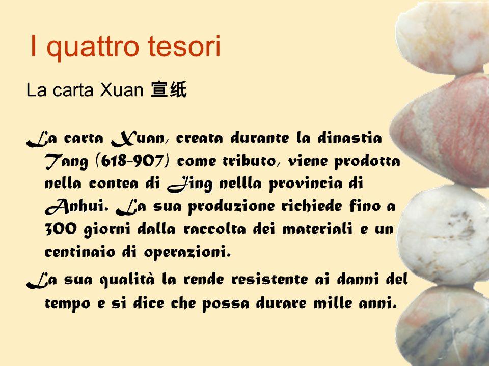 I quattro tesori La carta Xuan 宣纸