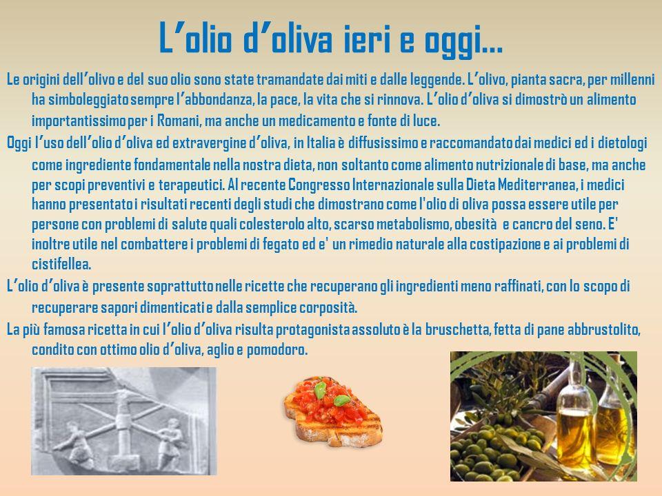 L'olio d'oliva ieri e oggi…