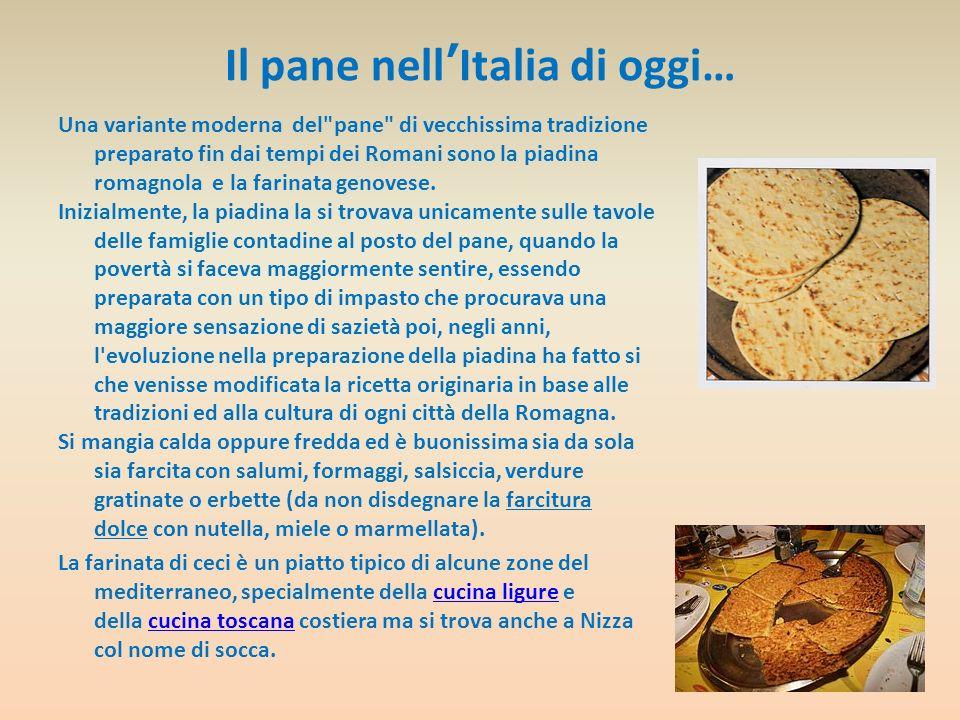 Il pane nell'Italia di oggi…