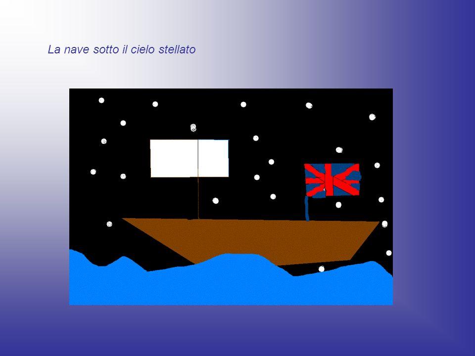 La nave sotto il cielo stellato