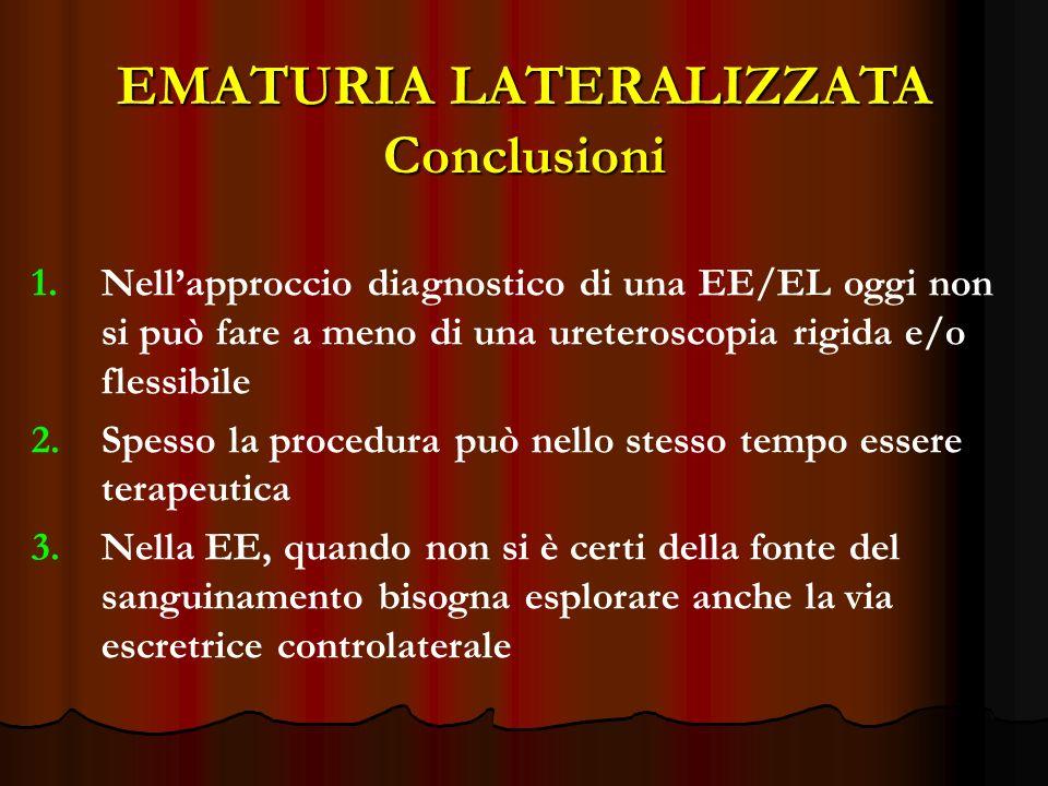 EMATURIA LATERALIZZATA Conclusioni