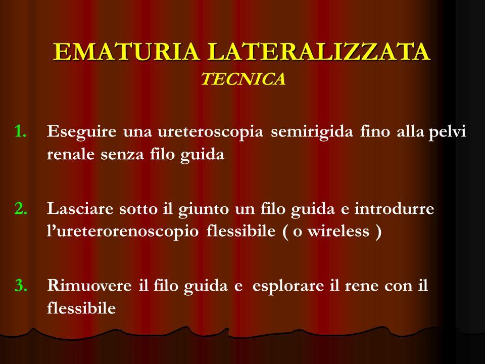EMATURIA LATERALIZZATA TECNICA