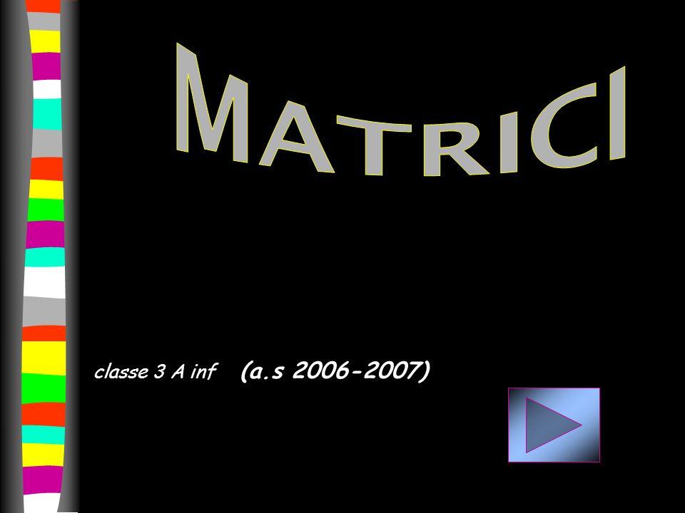 MATRICI classe 3 A inf (a.s 2006-2007)