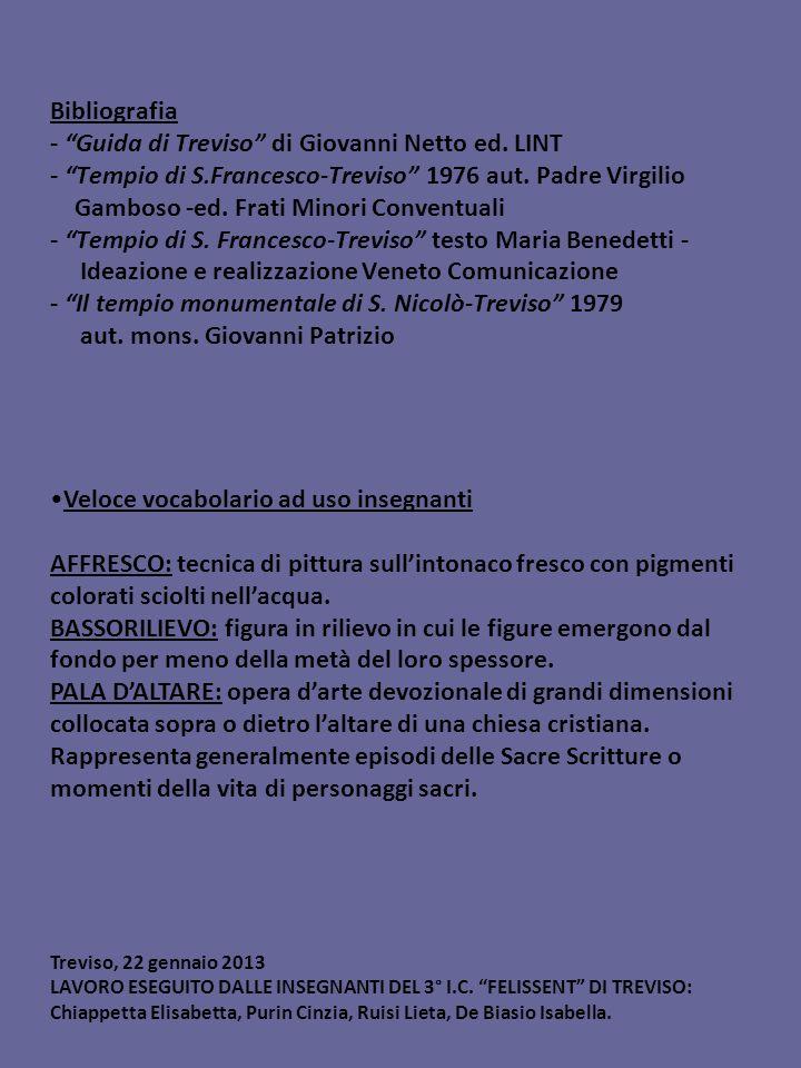Bibliografia - Guida di Treviso di Giovanni Netto ed