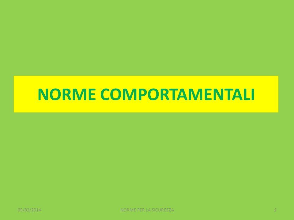 NORME COMPORTAMENTALI