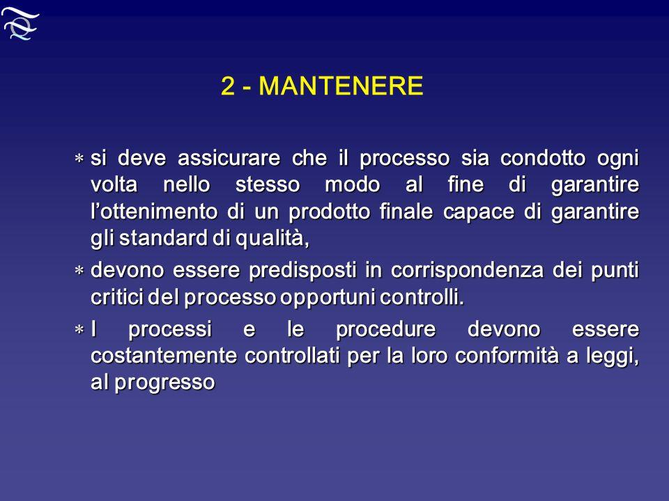 2 - MANTENERE
