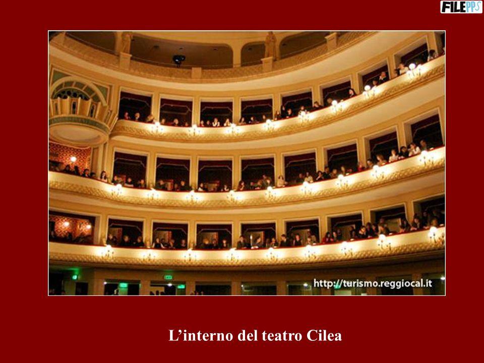 L'interno del teatro Cilea