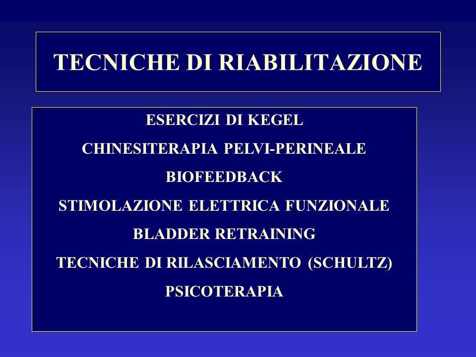 TECNICHE DI RIABILITAZIONE