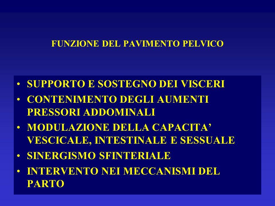 FUNZIONE DEL PAVIMENTO PELVICO