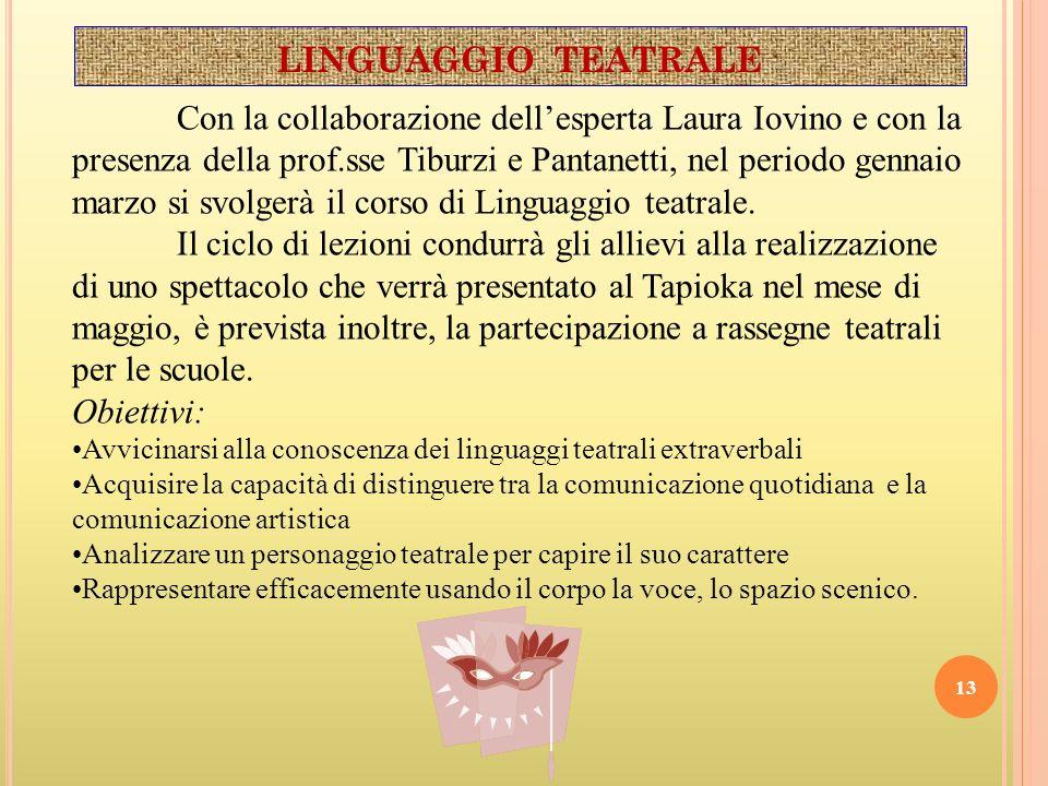 LINGUAGGIO TEATRALE