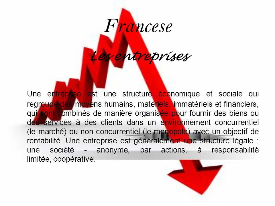 Francese Les entreprises