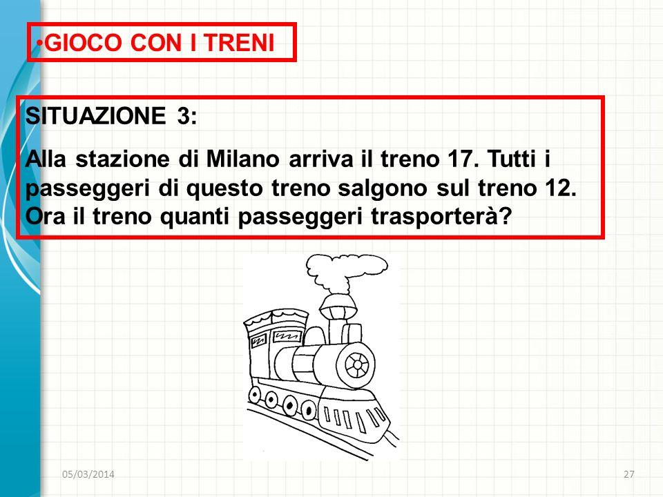 GIOCO CON I TRENI SITUAZIONE 3: